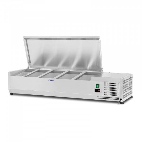Countertop Refrigerated Display Case - 120 x 33 cm - 5 GN 1/4 Containers