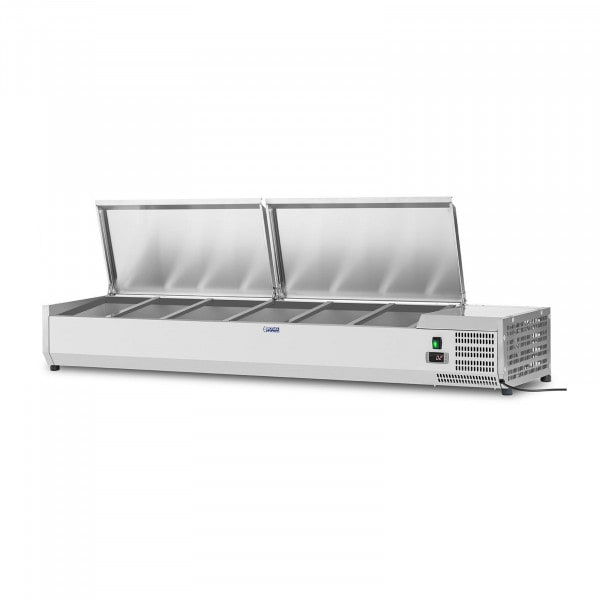 Countertop Refrigerated Display Case - 180 x 39 cm - 8 GN 1/3 Containers